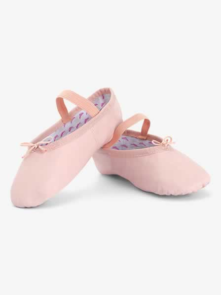 "Girls ""Princess"" Full Sole Leather Ballet Shoes"